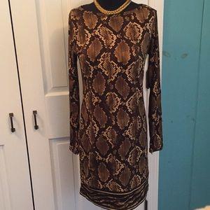 Silky Michael Kors snake print dress
